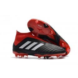 Baratas Botas de fútbol Adidas Predator 18+ FG Negro Rojo Blanco