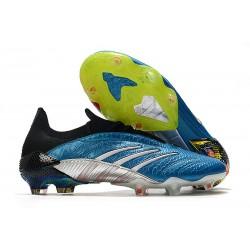Botas de Fútbol adidas Predator Archive FG Hombres Azul Rojo Blanco