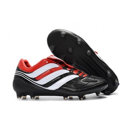 Zapatillas de fútbol Adidas Predator Precision FG Negro Blanco Rojo