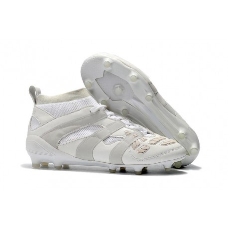 Botas de fútbol Adidas Predator Accelerator DB FG Todo Blanco