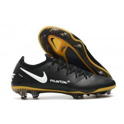 Nike Tacón de Fútbol Phantom GT Elite Tech Craft FG - Negro Oro Blanco
