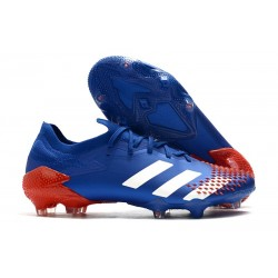 adidas Botas de fútbol Predator Mutator 20.1 Low FG Azul Blanco Rojo