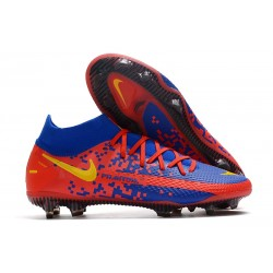Nike Phantom Generative Texture Elite DF FG Azul Rojo Amarillo