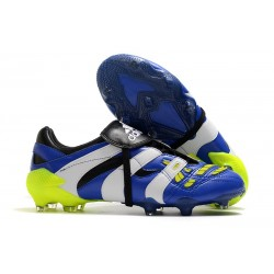 Nuevo Botas fútbol Adidas Predator Accelerator FG Azul Blanco Amarillo