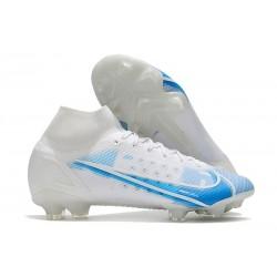 Nike Mercurial Superfly 8 Elite DF FG Blanco Azul