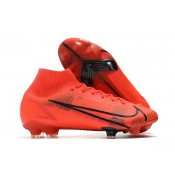 Bota Nike Mercurial Superfly VIII Elite FG Rojo Negro
