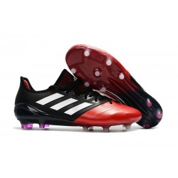 Bota de fútbol adidas ACE 17.1 FG para Hombre Negro Rojo Blanco